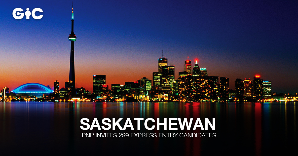 Saskatchewan PNP invites 299 Express Entry candidates
